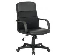 Офісне крісло Richman Гаррі 970-1060х470х590 мм Пластик Чорний Кожзам