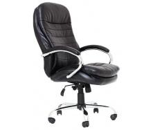 Офісне крісло Richman Валенсія-В Хром 1120-1220х640х730 мм кожзам-чорний