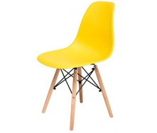 Стілець Richman Жаклін пластиковий Жовтий з дерев'яними ногами