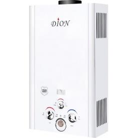 Колонка газовая DION JSD08 LCDW 16 кВт 8 л/мин дымоходная