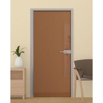 Скляні міжкімнатні двері з бронзовим склом 2000x700 мм