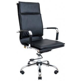Компьютерное кресло Richman Гаваи 1100-1180х470х490 мм Хром Кожзам Черный