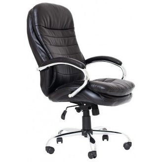 Кресло Richman Валенсия В Хром М2 Кожзам Черный
