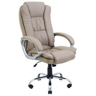 Офісне крісло Richman Каліфорнія 117-127х52 см Хром Кожзам Кави