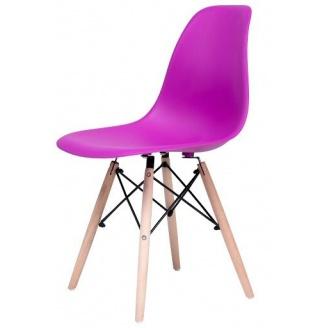 Стул Richman Жаклин пластиковый Фиолетовый с деревянными ногами
