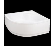 Акриловый поддон Invena полукруглый глубокий с корпусом 38,5 см с сифоном 90x90 см