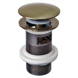 Донний клапан для раковини Welle бронза