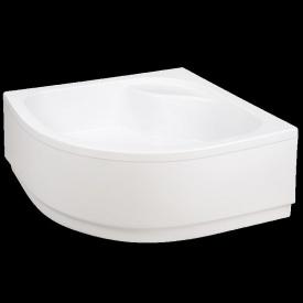 Акриловий піддон Invena напівкруглий глибокий з корпусом 38,5 см з сифоном 90x90 см