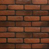 Плитка гипсовая Rustika Кирпич античный красный 185x60x10 мм