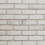 Плитка гипсовая Rustika Кирпич античный белый 185x60x10 мм