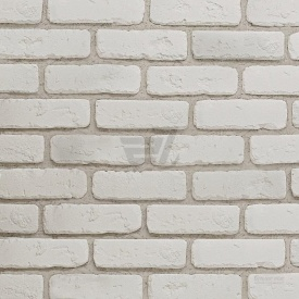 Плитка гіпсова Rustika Цегла античний білий 185x60x10 мм
