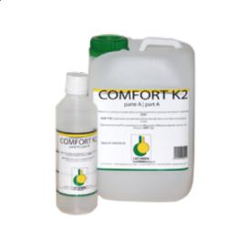 Лак 2-х компонентний поліуретановий на водній основі мат/полумат Comfort K2 LECHNER 5,5 л.