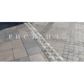 Тактильна плитка Стопер бетонна 200х200х100 мм сіра