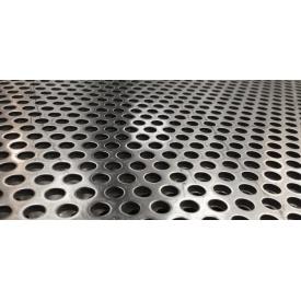 Нержавеющий перфорированный лист 3-5х1 мм 1000x2000 мм