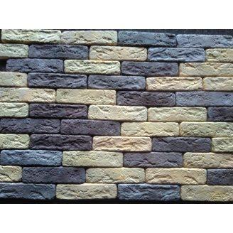 Гіпсова плитка Римський цеглинка 205х50х1.5мм 03 мікс