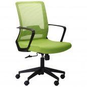 Офісне крісло AMF Argon LB 980-1100х590х640 мм сітка-тканина оливкового кольору