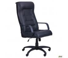 Кресло Роял Пластик Кожа Сплит черная