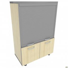 Шкаф М31 АртМобил 820х425х1280 мм клен/кромка серый металлик