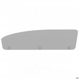 Перегородка М286 АртМобил 1600х18х450 мм серый/кромка серый металлик