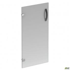 Дверца 2-х секционная стеклянная R-85 390х4х760 мм