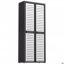 Шкаф книжный Оникс 900х400х2172 Венге прованс стекло
