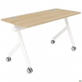 Конференц стол PARLEY (1350х600х743) Блэквуд Ячменный/Кромка серая