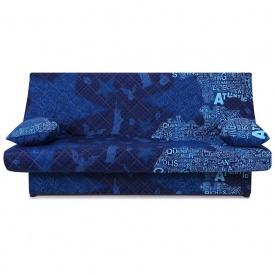 Диван-кровать Ньюс механизм клик-кляк State blue с двумя подушками