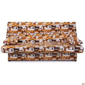 Диван-кровать Ньюс механизм клик-кляк City brown с двумя подушками