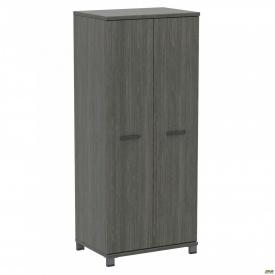 Шкаф гардероб SIG-902 800x550x1900 мм Опора черный графит Морское Дерево Карбон