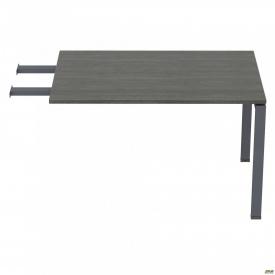 Стол приставной с удлиненными перемычками SIG-107 (800х800х750мм) Черный графит 60х30мм Морское дер