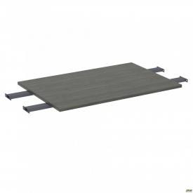 Стол сегмент с удлиненными перемычками SIG-109 (1000х800х25мм) Черный графит 60х30мм Морское дерево