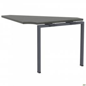 Стол приставной с кронштейнами SIG-113 (950х950х750мм) Черный графит 60х30мм Морское дерево Карбон