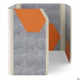 Кабина Cabi фетр серый/фетр оранжевый белый беж