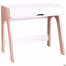 Комп'ютерний стіл Esenin білий+горіх світлий/білий
