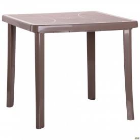 Стол Nettuno 80х80 см пластик тауп