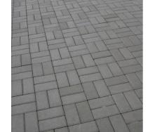 Тротуарная плитка Золотой Мандарин Кирпич стандартный 200х100х80 мм серый
