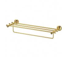 Полиця з тримачем рушника Welle золото