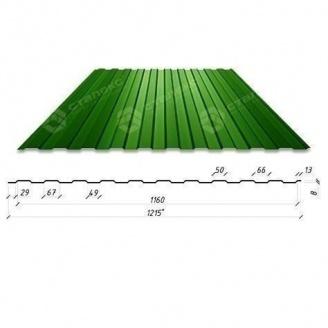 Профнастил Сталекс С-6 1215/1160 мм 0,45 мм PEMA (RAL6005/зелений мох) (Китай)