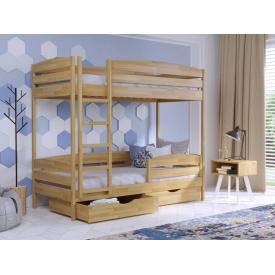 Кровать деревянная 2х-ярусная Дуэт плюс 190х80 см