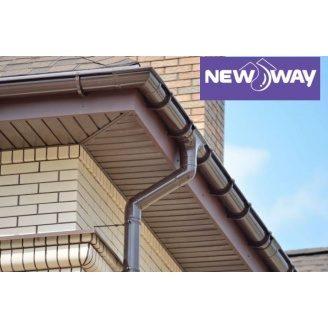 Водостічна система NewWay 120/85 мм коричнева
