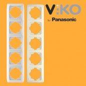 П'ятірна вертикальна рамка VIKO Carmen