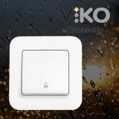 Кнопка дзвінка VIKO Rollina білий