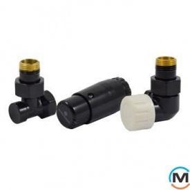 Комплект термостатический Schlosser , черный, осевой правый