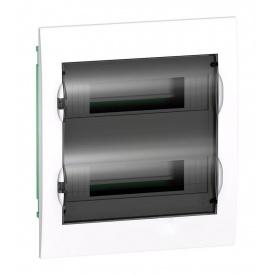 Щит розподільчий вбудований Schneider Electric Easy9 на 24 модулів IP40 білий двері прозорі