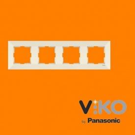 Четвірна горизонтальна рамка VIKO Meridian крем