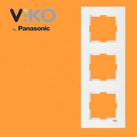 Тройная вертикальная рамка VIKO Karre белый