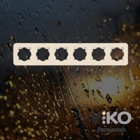 Пятерная горизонтальная рамка VIKO Rollina Крем