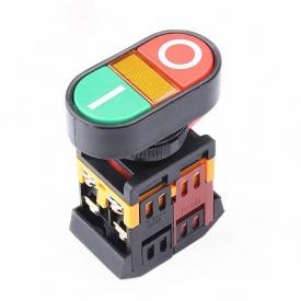 Кнопка управління подвійна натискна з підсвічуванням APBB-22-N пуск/стоп