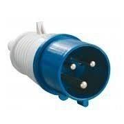 Вилка переносна 023 32А 220-250 3 контакта 2P+E IP44 синій