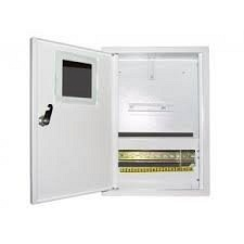 Шкаф монтажный распределительный наружной установки с замком под 1Ф электронный счетчик Лоза ШМР-1Фэ-12Н